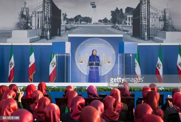 Maryam Rajavi in Tirana Albania on 1st September 2017 during Memorial ceremony in commemoration of residence of Camp Ashraf massacre in September 1st...