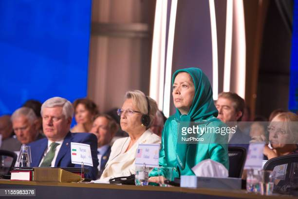 Maryam Rajavi Michele AliotMarie Stephen Harper Duress Albania The annual Free Iran Conference for the first time at Ashraf 3 the headquarters of the...