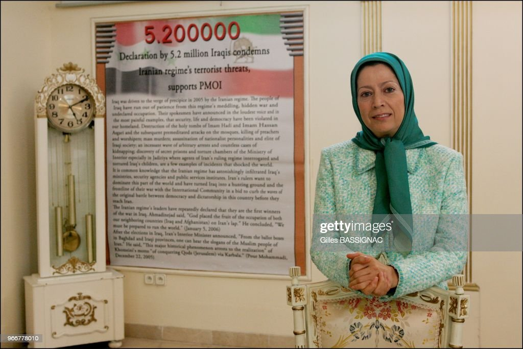 Maryam Rajavi the charismatic leader of the Iranian opposition the National Council of Resistance of Iran (NCRI) opens the doors of her residence in Auvers-sur-Oise near Paris for an exclusive visit : Nieuwsfoto's