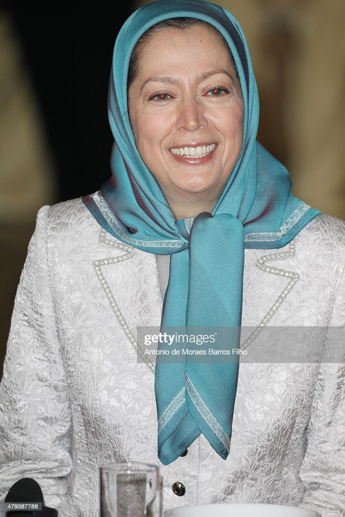 Maryam Rajavi, president of the National Council of Resistance of Iran (NCRI), attends the Tolerant & Democratic Islam vs Fanaticism & Extremism Dinner In Paris on July 3, 2015 in Paris, France.