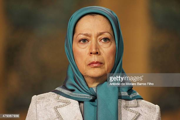 Maryam Rajavi president of the National Council of Resistance of Iran attends the Tolerant Democratic Islam vs Fanaticism Extremism Dinner In Paris...