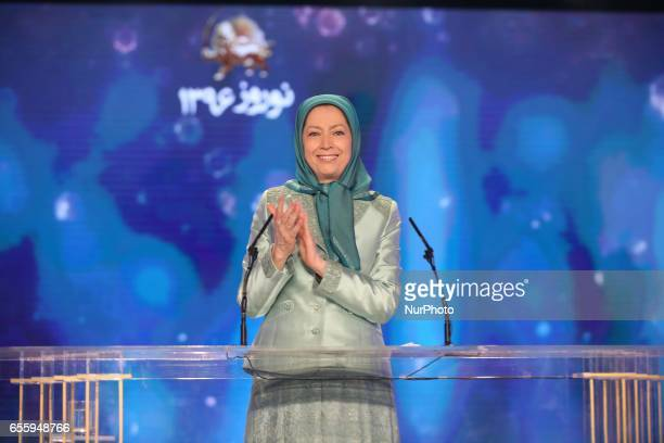 Maryam Rajavi Tirana Albania Maryam Rajavi addressed her greeting at Nowruz celebration the Iranian New Year which was held at Tirana Albania with...