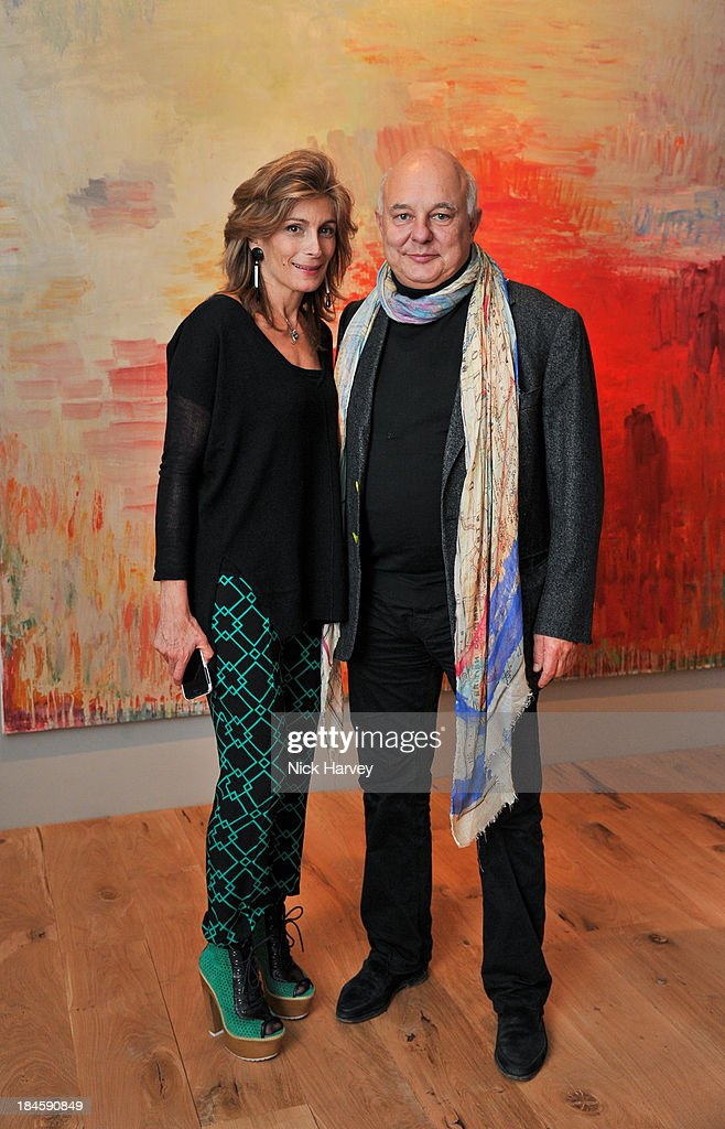 Maryam Sachs and Rolf Sachs attend the collectors preview for PAD London at Berkeley Square Gardens on October 14, 2013 in London, England.