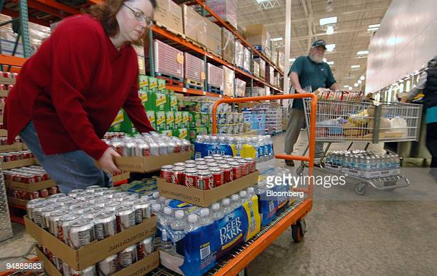 maryann caponi loads her cart while shopping at a costco wholesale store in king of prussia
