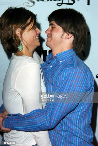 Maryanna Palka and Jason Ritter during PUMA Bodywear Launch Party Red Carpet at Shelter Supper Club in Los Angeles California United States