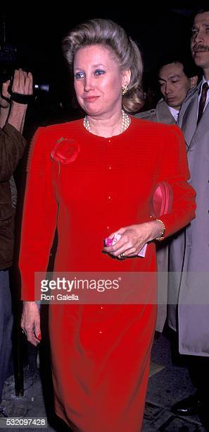 Maryanne Trump Barry attends Ivana Trump Birthday Party on February 14 1990 at La Grenouille in New York City