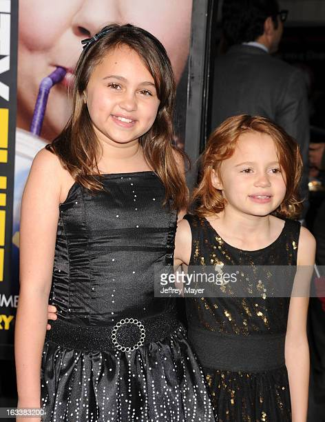 Mary-Charles Jones and Maggie Elizabeth Jones arrive at the 'Identity Thief' Los Angeles premiere at Mann Village Theatre on February 4, 2013 in...