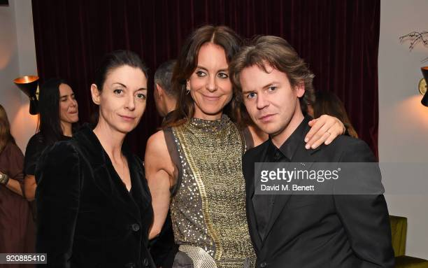 MarycMcCartney Alison Loehnis and Christopher Kane attend a cocktail party in honour of Alison Loehnis' 10 year anniversary at NETAPORTER on February...