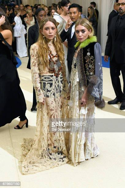 MaryKate and Ashley Olsen attend the 'Rei Kawakubo/Comme des Garcons Art Of The InBetween' Costume Institute Gala at Metropolitan Museum of Art on...