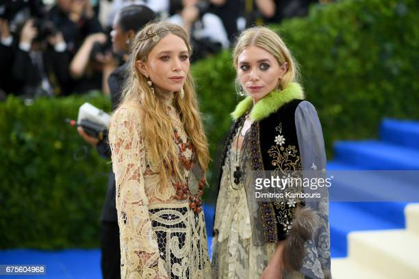 MaryKate and Ashley Olsen attends the 'Rei Kawakubo/Comme des Garcons Art Of The InBetween' Costume Institute Gala at Metropolitan Museum of Art on...