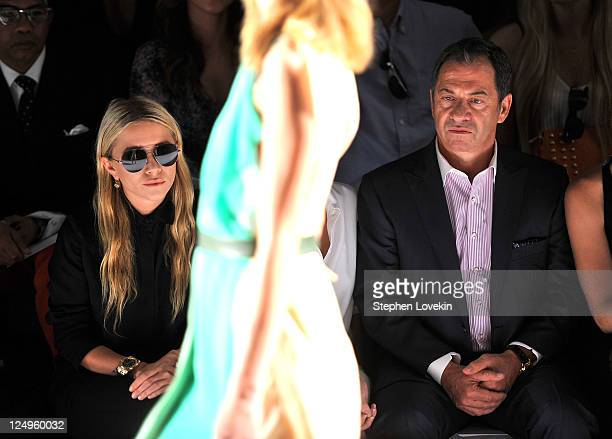 MaryKate Olsen and Alec Gores attend the JMendel Spring 2012 Fashion Show at Lincoln Center on September 14 2011 in New York City