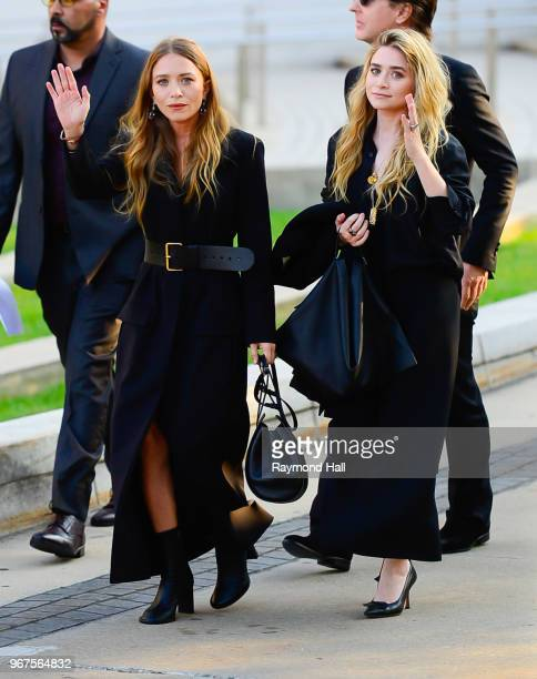 Mary-Kate Olsen and Ashley Olsen are seen in brooklyn on June 4, 2018 in New York City.