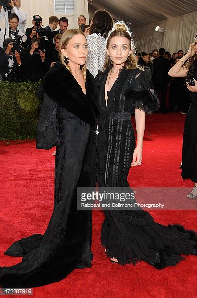 MaryKate Olsen and Ashley Olsen arrives at 'China Through The Looking Glass' Costume Institute Benefit Gala at the Metropolitan Museum of Art on May...