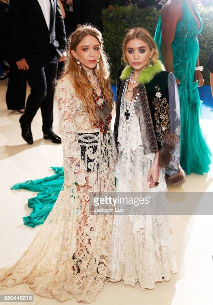 MaryKate Olsen and Ashley Olsen at 'Rei Kawakubo/Comme des GarçonsArt of the InBetween' Costume Institute Gala at Metropolitan Museum of Art on May 1...