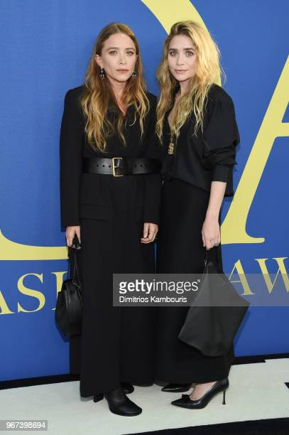 MaryKate Olsen and Ashley Olsen attend the 2018 CFDA Fashion Awards at Brooklyn Museum on June 4 2018 in New York City