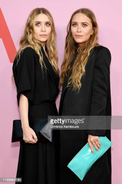 MaryKate Olsen and Ashley Olsen attend the CFDA Fashion Awards at the Brooklyn Museum of Art on June 03 2019 in New York City