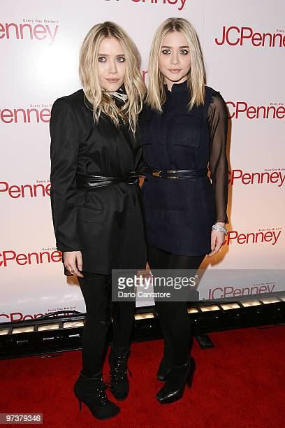 Mary-Kate Olsen and Ashley Olsen attend the JCPenney best of Spring showcase at Alice Tully Hall, Lincoln Center on March 2, 2010 in New York, New...