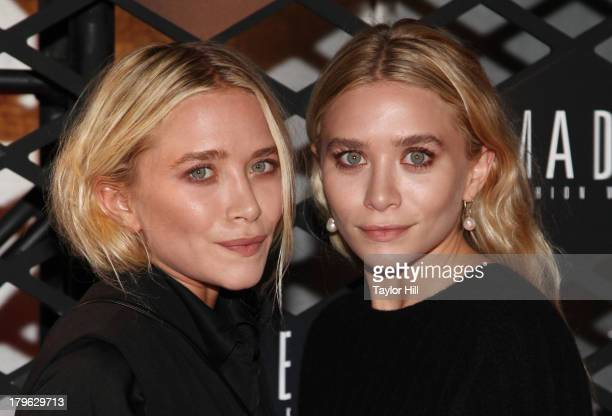 MaryKate Olsen and Ashley Olsen attend the Lexus Design Disrupted Fashion Event at SIR Stage 37 on September 5 2013 in New York City
