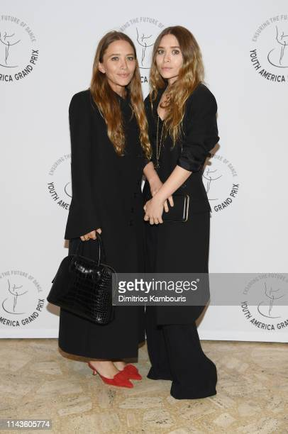 MaryKate Olsen and Ashley Olsen attend the Youth America Grand Prix's 20th Anniversary Gala at David H Koch Theater Lincoln Center on April 18 2019...