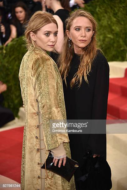 MaryKate Olsen and Ashley Olsen attends the 'Manus x Machina Fashion In An Age Of Technology' Costume Institute Gala at Metropolitan Museum of Art on...