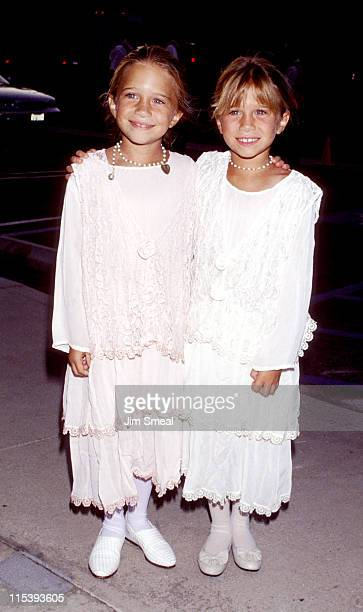 MaryKate Olsen and Ashley Olsen during ABC Fall 1994 Season Kick Off Cocktail Reception at Pacific Design Center in West Hollywood California United...