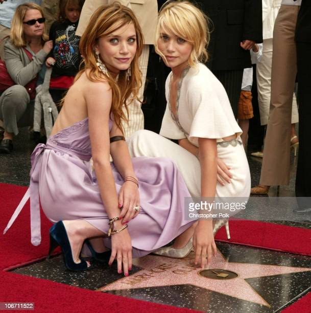 MaryKate Olsen and Ashley Olsen during MaryKate Olsen and Ashley Olsen Receive their Star on the Hollywood Walk of Fame at Grauman's Chinese Theatre...
