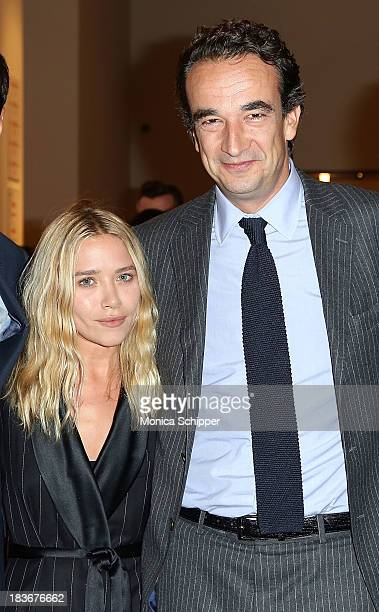 MaryKate Olsen and Olivier Sarkozy attend 2013 Take Home A Nude Benefit Art Auction And Party at Sotheby's on October 8 2013 in New York City