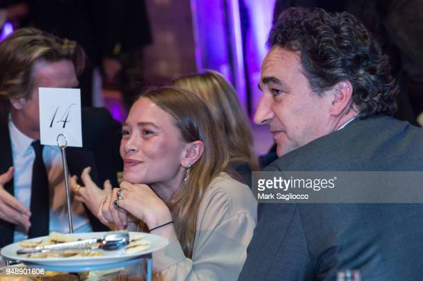 MaryKate Olsen and Olivier Sarkozy attend the Youth America Grand Prix at David H Koch Theater at Lincoln Center on April 19 2018 in New York City