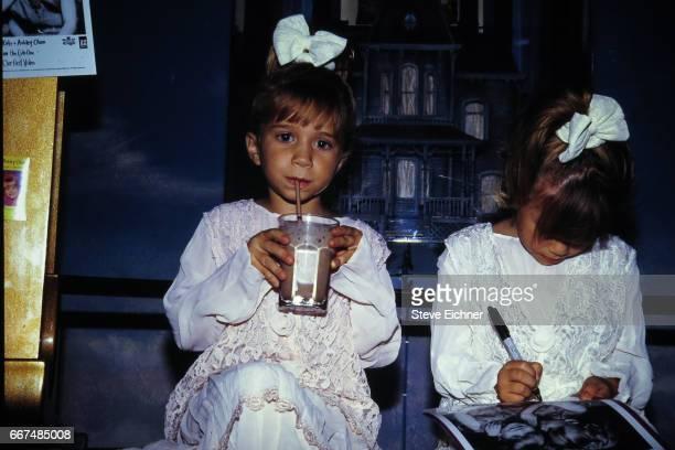 MaryKate Olsen Ashley Olsen at Planet Hollywood New York New York October 1993