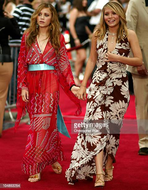 MaryKate Olsen Ashley Olsen during Premiere of Charlie's Angels Full Throttle at Grauman's Chinese Theatre in Hollywood California United States