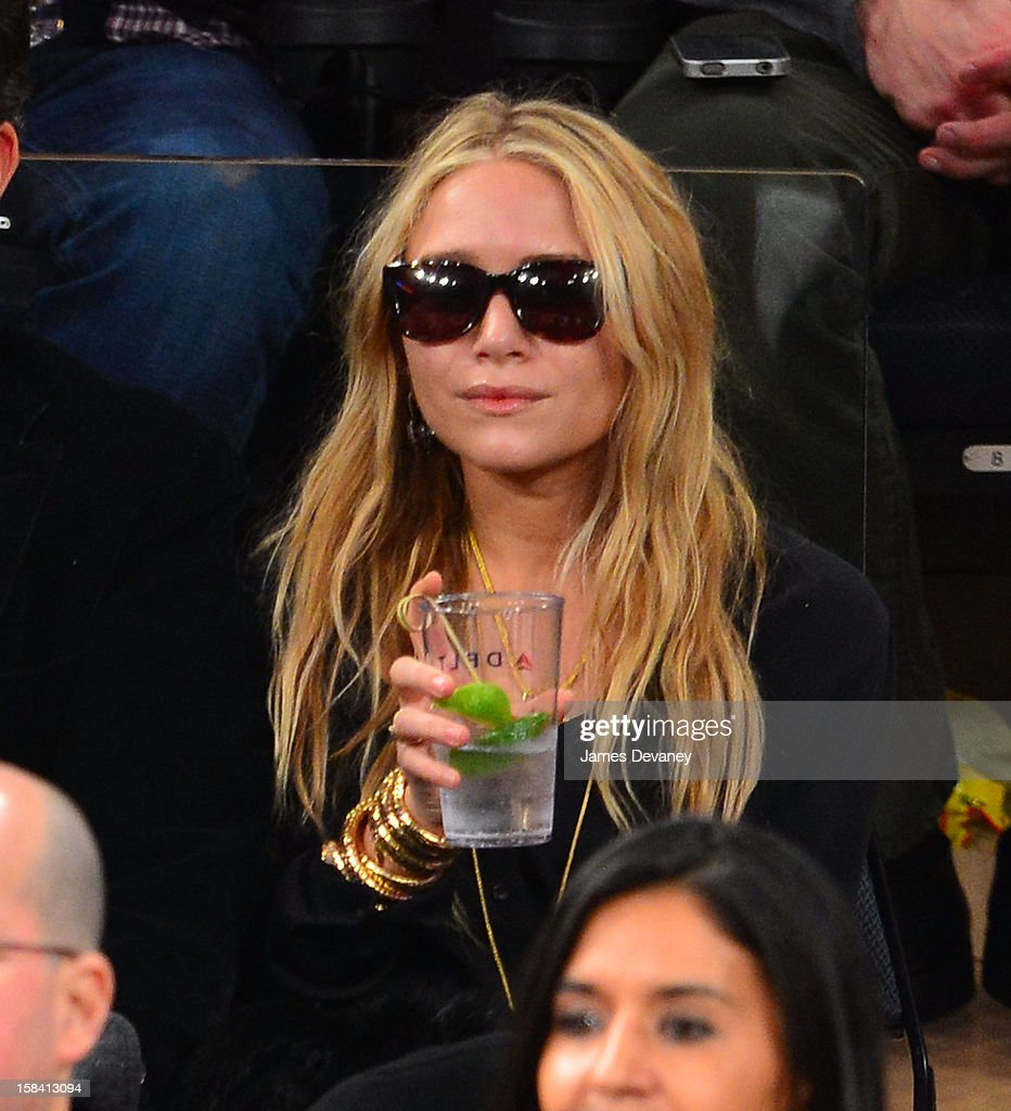Mary-Kate Olsen attends the Cleveland Cavaliers vs New York Knicks game at Madison Square Garden on December 15, 2012 in New York City.