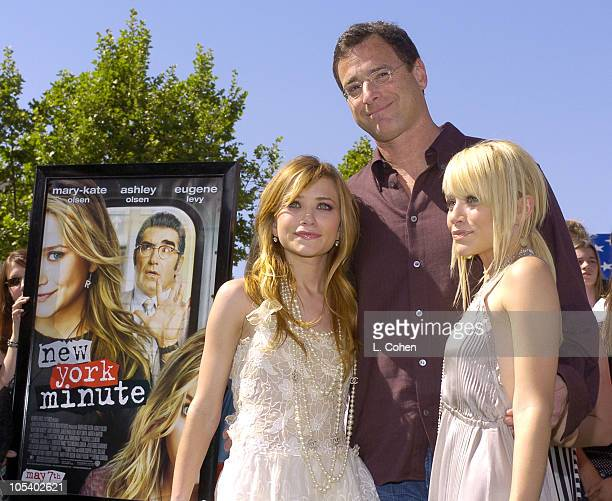 MaryKate Olsen Bob Saget and Ashley Olsen during 'New York Minute' World Premiere Green Carpet at Grauman's Chinese Theater in Hollywood California...