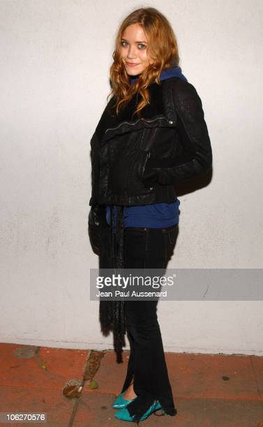 MaryKate Olsen during Bruce Weber's 'Whirligig' Show Opening at Fahey / Klein Gallery in Los Angeles California United States