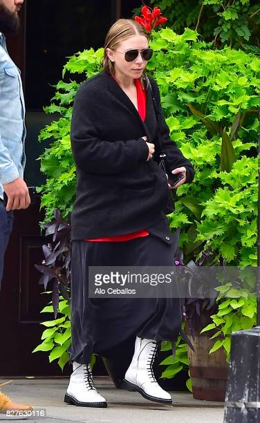 MaryKate Olsen is seen in Tribeca on August 8 2017 in New York City