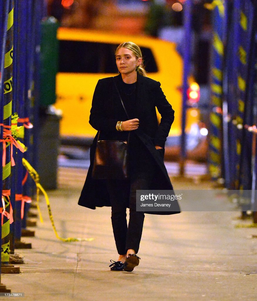 Mary-Kate Olsen leaves Wolfgang's Steakhouse on July 14, 2013 in New York City.