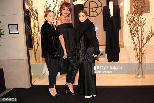 MaryKate Olsen Marion Heinrich and Ashley Olsen during MaryKate Olsen and Ashley Olsen present their collection 'The Row' at Marion Heinrich on...