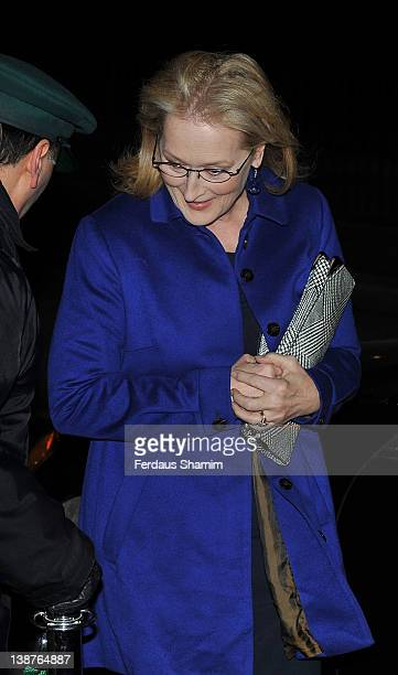 Maryl Streep attends preBAFTA dinner hosted by Charles Finch and Chanel at Annabels on February 11 2012 in London England
