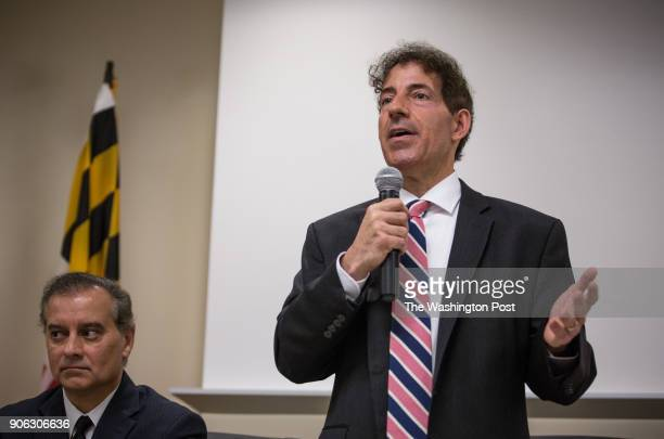 Maryland 8th Congressional District Democratic candidate state Senator Jamie Raskin along with fellow candidates during a forum sponsored by the...