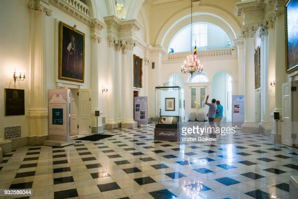 usa, maryland, annapolis, state house interior - maryland us state stock pictures, royalty-free photos & images