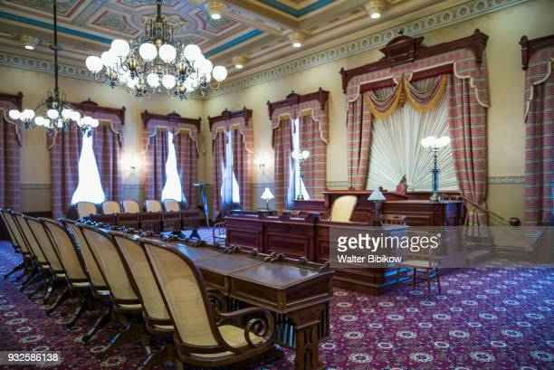 usa, maryland, annapolis, state house interior - annapolis stock pictures, royalty-free photos & images