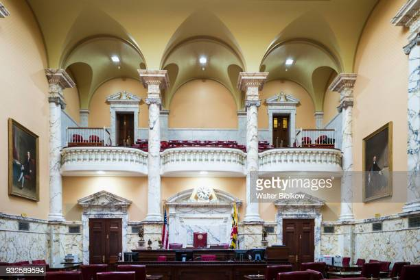 maryland, annapolis, state house interior - maryland us state stock pictures, royalty-free photos & images