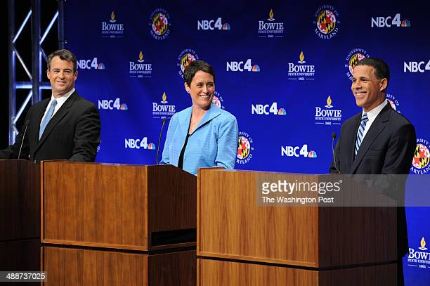 Maryland Attorney General Doug Gansler left to right Maryland State Delegate Heather Mizeur and Maryland Lieutenant Governor Anthony Brown take part...