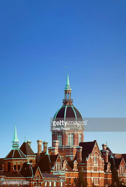 """usa, maryland, baltimore, johns hopkins hospital dome - """"greg pease"""" stock pictures, royalty-free photos & images"""