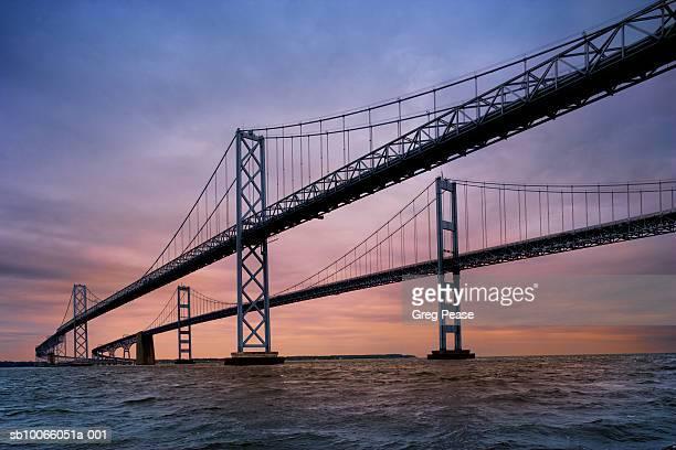 usa, maryland, chesapeake bay bridge - bay bridge stock pictures, royalty-free photos & images