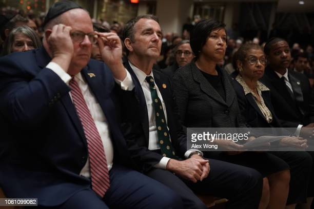 Maryland Gov Larry Hogan Virginia Gov Ralph Northam DC Mayor Muriel Bowser Rep Eleanor Holmes Norton and Virginia Lt Gov Justin Fairfax attend a...