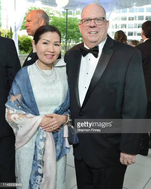 Maryland Governor Larry Hogan and First Lady of Maryland Yumi Hogan attend the CBS News and Politico 2019 White House Correspondents' Dinner...