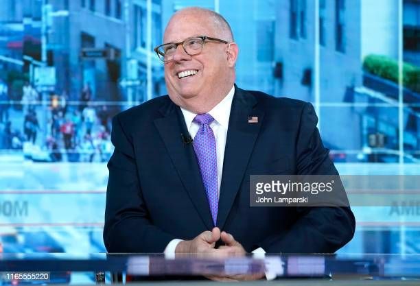 Maryland Governor Larry Hogan is interviewed by Fox News' Bill Hemmer at Fox News Studios on August 01, 2019 in New York City.