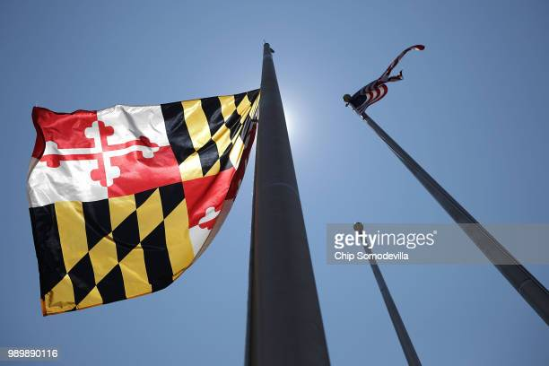 Maryland Governor Larry Hogan ordered the state flag flown at halfstaff in honor of the victims of last week's shooting at the Annapolis Capitol...