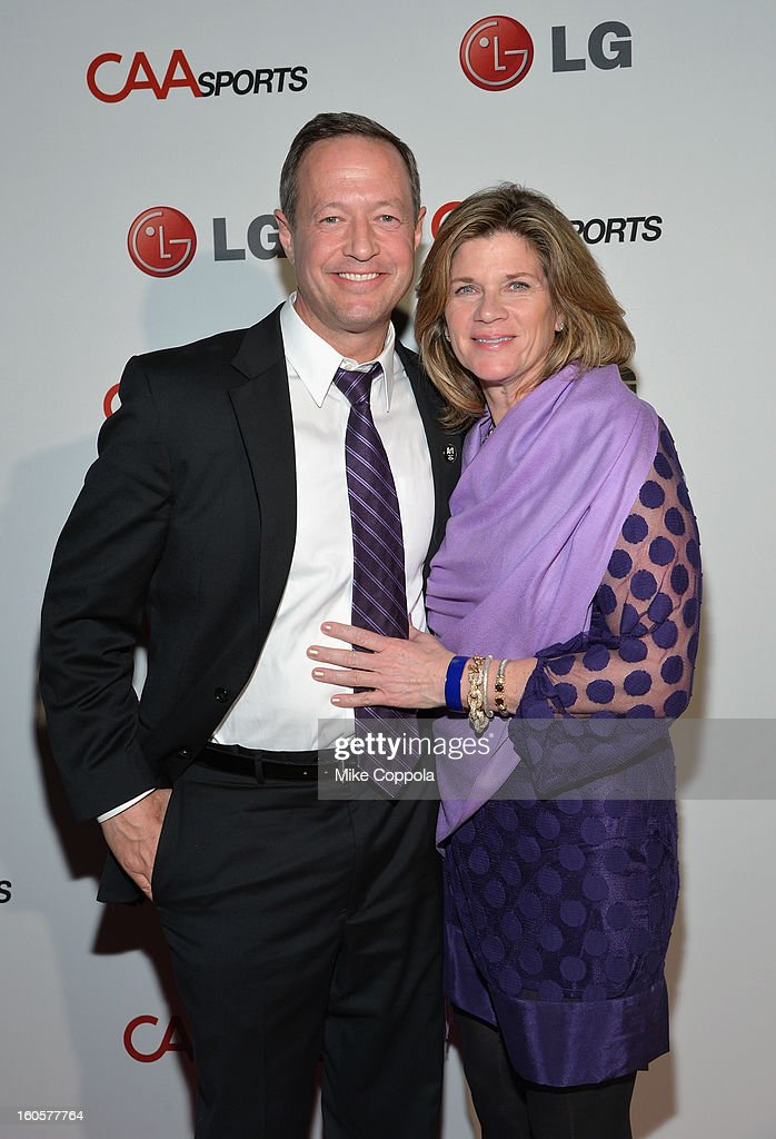 Maryland Governor Martin O'Malley and Catherine Curran O'Malley attend CAA Sports Super Bowl Party presented By LG at Contemporary Arts Center on February 2, 2013 in New Orleans, Louisiana.