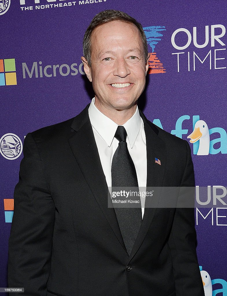 Maryland Governor Martin O'Malley attend the Inaugural Youth Ball hosted by OurTime.org at Donald W. Reynolds Center on January 19, 2013 in Washington, United States.